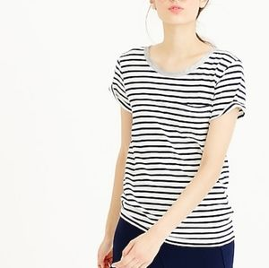 J. Crew Striped Short Sleeves Tee